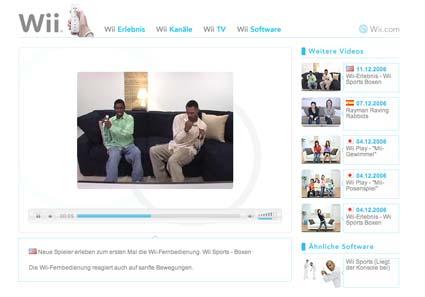 Wii Sports Website