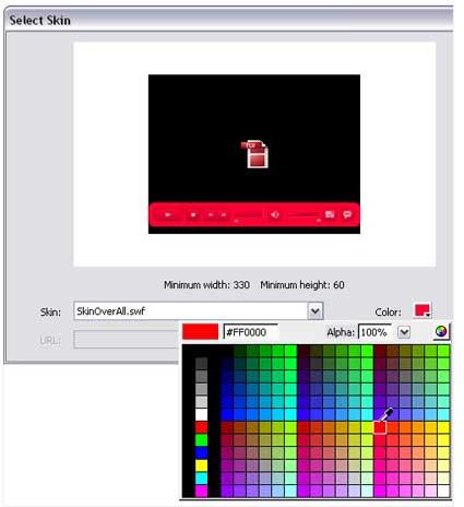 FLV Playback ActionScript3: Auswahl der Hintergrundfarbe