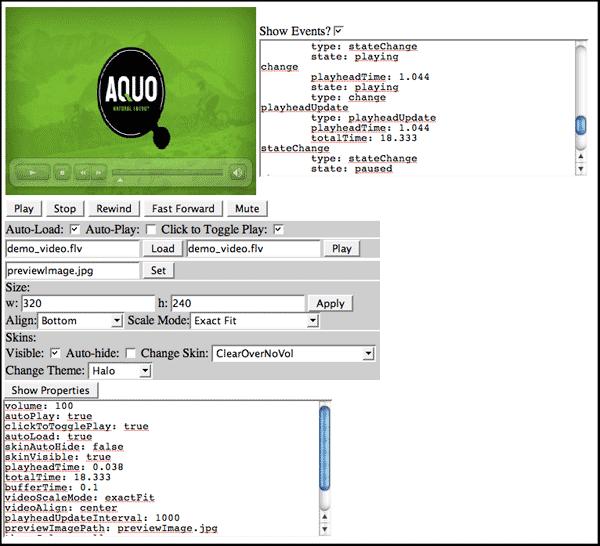 Flashvideo Ajax Komponente