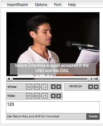 Subtitle Creator Preview