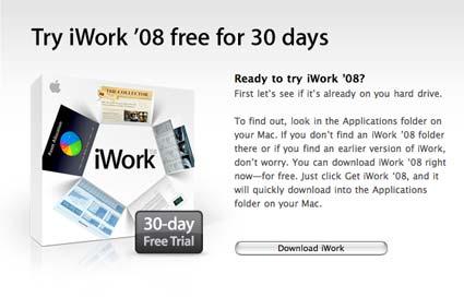 Apple iWork 08 Trial