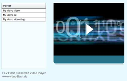 FLV Flash Fullscreen Player