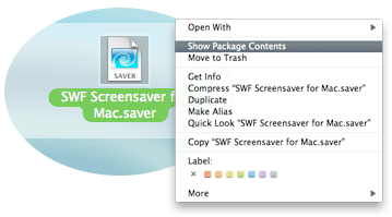 How to open the screensaver package