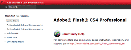 Adobe Flash CS4 Hilfe
