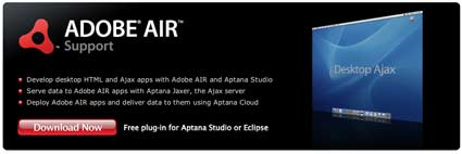 Aptana Studio AIR Plugin