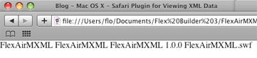 Safari XML ohne Plugin