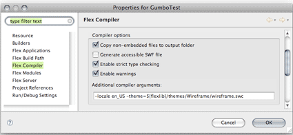 Compiler Options Wireframe Skin