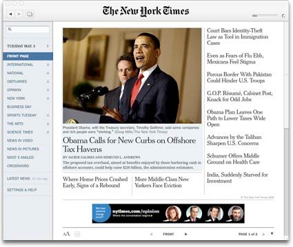 New York Times Reader - Adobe AIR