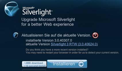 Silverlight 3 Installer