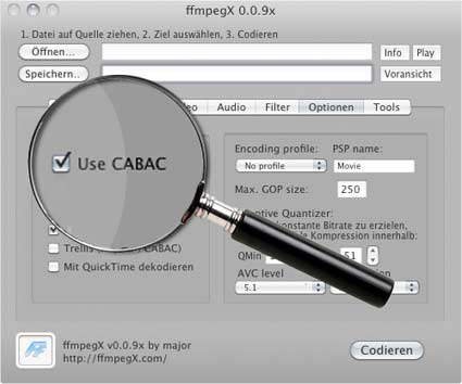 CABAC CAVLC H.264-Encoding