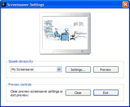 Bildschirmschoner-Vorschau
