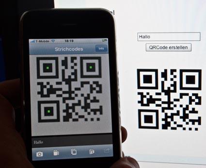 QR Code von Flex auf dem iPhone