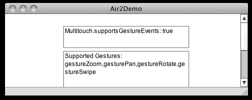 Adobe AIR 2 - Supported Gestures